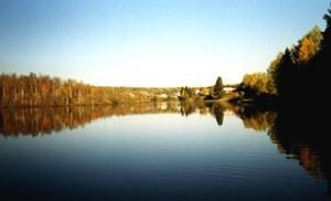 Вид на д. Озёра со стороны Недумы.
